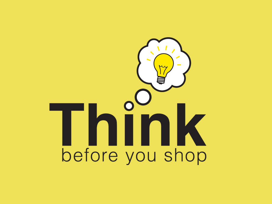 That Creative Guy. Think Before You Shop Logo Design. brand expert. graphic design. web design in mississippi.