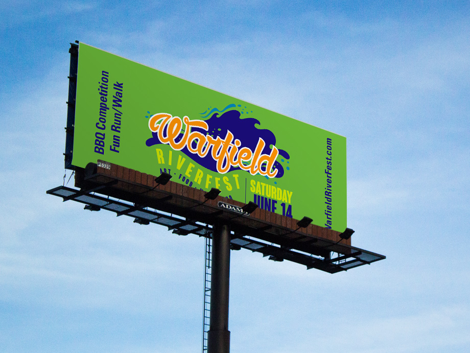 That Creative Guy. Billboard Design. Warfield Riverfiest. brand expert. graphic design. web design in mississippi.