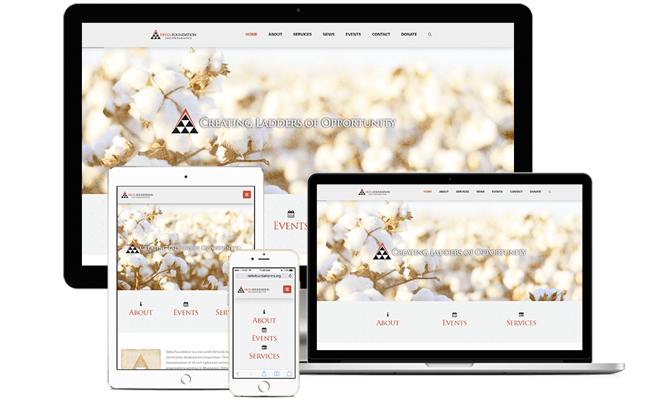 That Creative Guy. Delta Foundation Website Design. brand expert. graphic design. web design in mississippi.