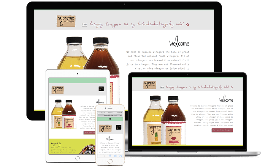 That Creative Guy. Supreme Vinegar Website Design. brand expert. graphic design. web design in mississippi.