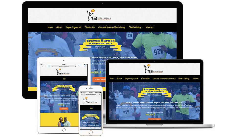 That Creative Guy. T & T Enterprises Website Design. brand expert. graphic design. web design in mississippi.