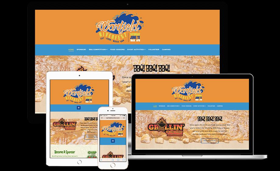That Creative Guy.  Warfield Riverfest Website Design. brand expert. graphic design. web design in mississippi.