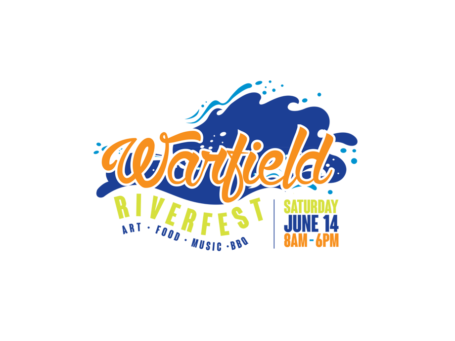 That Creative Guy. Warfield Riverfest Logo Design. brand expert. graphic design. web design in mississippi.