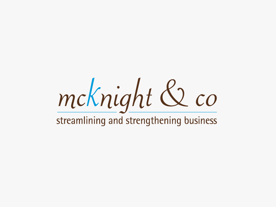 That Creative Guy. McKnight & Co Logo Design. brand expert. graphic design. web design in mississippi.
