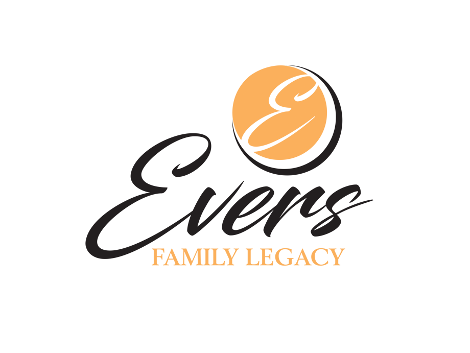 That Creative Guy. Evers Family Legacy Logo Design. brand expert. graphic design. web design in mississippi.