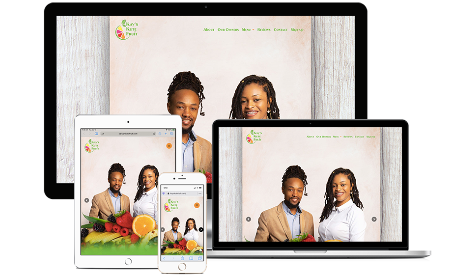 That Creative Guy. Kay's Kute Fruit Website Design. brand expert. graphic design. web design in mississippi.