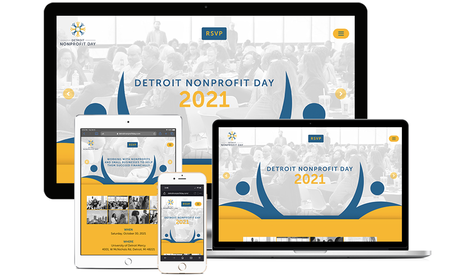 That Creative Guy. Detroit Nonprofit Day Website Design. brand expert. graphic design. web design in mississippi.